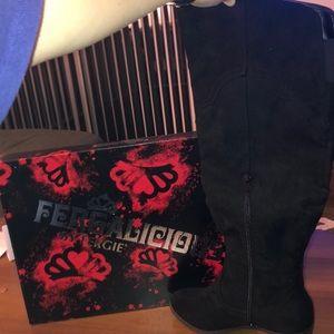 Fergalicious NIB Bata Black western boots (8M)